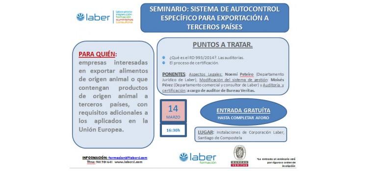 Nueva jornada informativa sobre Certificación de los sistemas de autocontrol específico en el ámbito del RD 993/2014